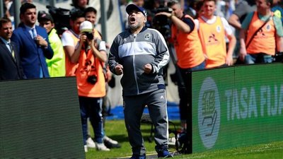 Derrota del Gimnasia de Maradona y Boca Juniors lidera el fútbol en Argentina