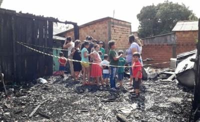 Menor murió calcinado en incendio de vivienda