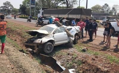 Brutal y milagroso accidente en la Ruta PY 02