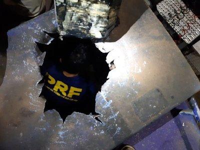 Brasil: Camión con placa paraguaya movilizaba 1.500 kilos de droga