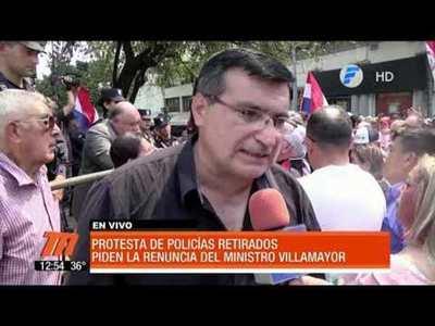 Policías retirados piden renuncia del Ministro del Interior