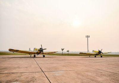 Llegaron al Silvio Pettirossi dos aviones hidrantes que se usarán para combatir incendios en Amambay