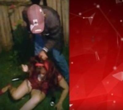 Captan brutal golpiza a mujer en Coronel Oviedo