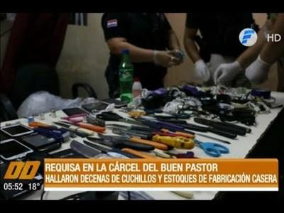 Requisa en el Buen Pastor: Incautan cuchillos y estoques de fabricación casera