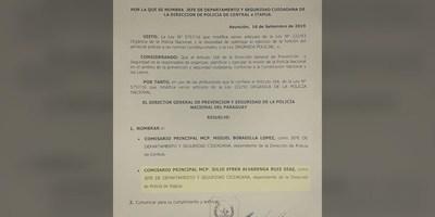 NOMBRAN A NUEVO JEFE DE PREVENCIÓN Y SEGURIDAD CIUDADANA DE ITAPÚA
