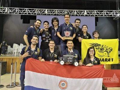Estudiantes paraguayos logran primer lugar en importante evento robótico
