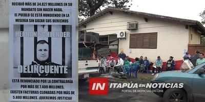 POBLADORES DE JESUS ACAMPAN FRENTE AL JUZGADO ELECTORAL DE ENCARNACIÓN