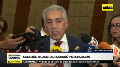 Comisión bicameral reanudó investigación