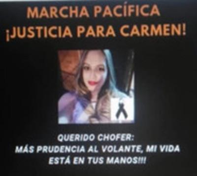 Organizan movilización exigiendo justicia tras muerte de universitaria