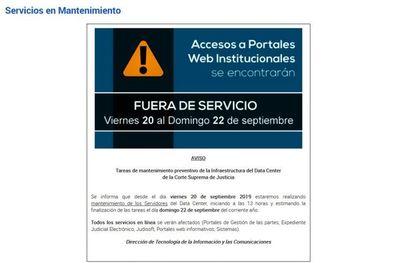 Se realizarán tareas de mantenimiento a servidores de data center