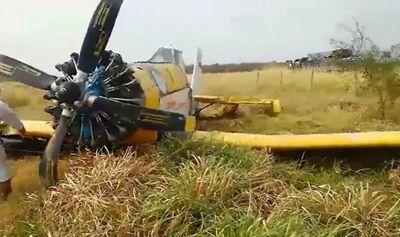 Aeronave hidrante aterrizó de emergencia