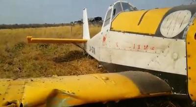 Avión que combatía incendios en el Chaco sufrió un accidente