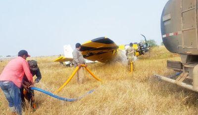 Accidente de avión causa susto en  zona de incendios