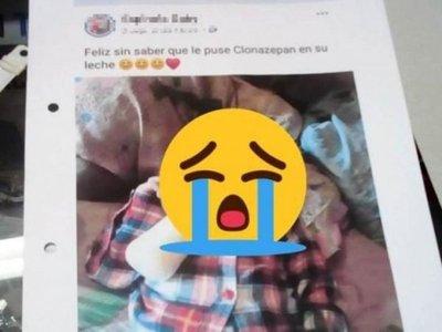 Por Facebook supo que su bebé fue sedado en casa de su mamá