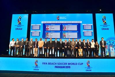 Copa Mundial de Beach Soccer Paraguay 2019: los 4 grupos definidos