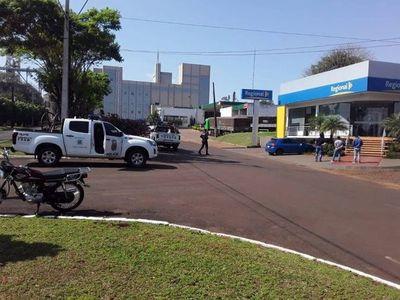Itapúa: Detector de objetos metálicos frustró asalto a sucursal de Banco Regional
