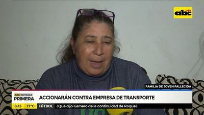 Familiares de joven fallecida accionarán contra empresa de transporte