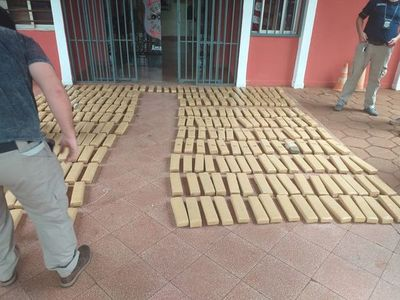 Incautan cargamento de marihuana prensada en Pedro Juan