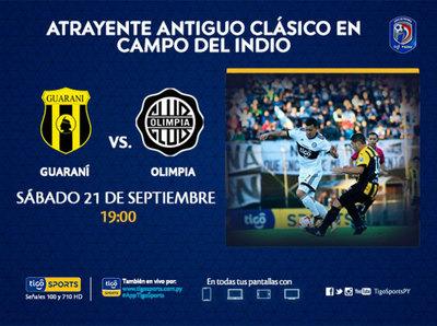 Guaraní recibe a Olimpia en Dos Bocas después de dos años