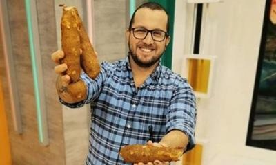 Freddy Almirón compartió la cocina con una cerdita
