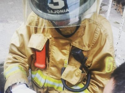 Joven bombero falleció tras accidente de tránsito