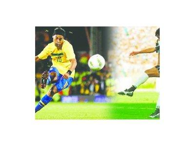 Ronaldinho había sido le copió al Chiqui Arce