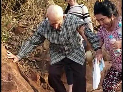 """""""Me siento joven aún"""", dijo Chacoré de 102 años tras subir al cerro"""