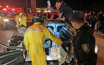 Violento choque deja varios heridos en Hernandarias
