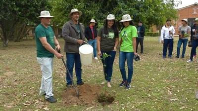 Jóvenes demuestran compromiso ambiental con plantación de árboles