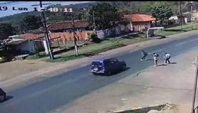 Escolar fue atropellado en cruce sin señalización y sin agentes de PMT de Luque •