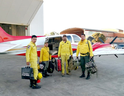 Bomberos de Minga Guazú se suman al operativo para sofocar incendios en el Chaco