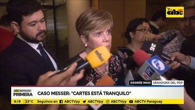 """Caso Messer: """"Cartes está tranquilo"""""""