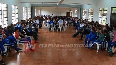 CNEL. BOGADO: SECRETARIA DE LA JUVENTUD Y GOBERNACIÓN DAN CHARLA DE PREVENCIÓN DE ADICCIONES