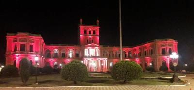 Palacio de López se ilumina de rojo en adhesión a la Semana del Corazón