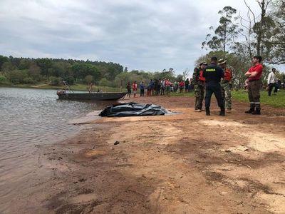 Hallan cuerpo de adolescente desaparecido el  domingo pasado en el lago Acaray