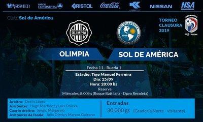 Torneo Clausura: Olimpia recibe al peligroso Sol de América