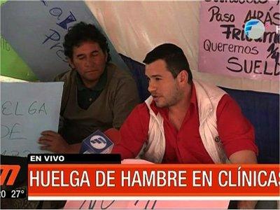 Más presupuesto: Funcionarios de Clínicas realizan huelga de hambre