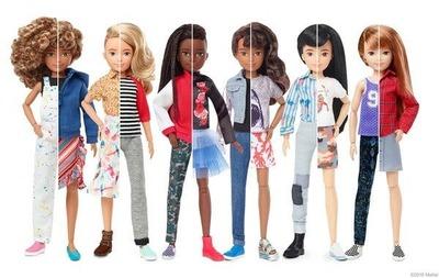 Mattel lanzó la primera línea de muñecas de género neutro