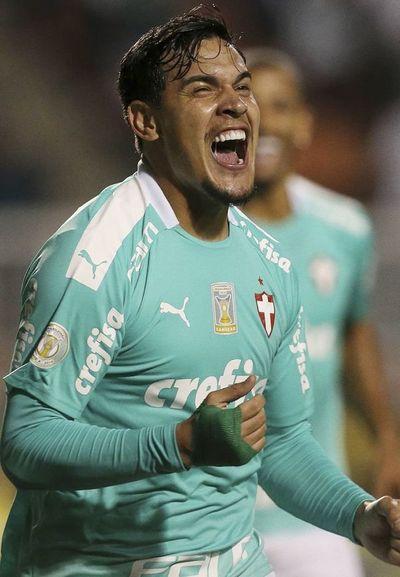 Gustavo, goleador con el Palmeiras