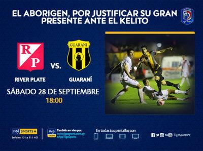 Guaraní visita a River Plate y quiere seguir en racha
