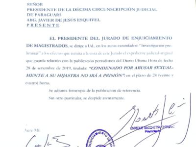Caso abuso sexual: JEM solicita informes sobre generosa decisión de jueces