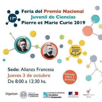 La feria Nacional Juvenil de Ciencias Pierre et Marie se hará el jueves