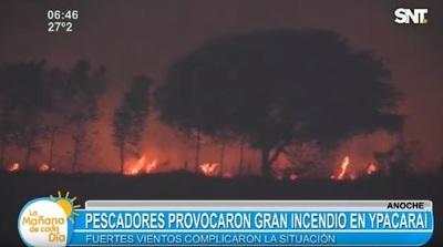 Fogata de pescadores provoca incendio en Ypacaraí