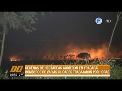 Decenas de hectáreas ardieron en Ypacaraí