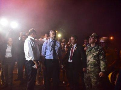 Incendio forestal: Mario Abdo visitó Parque Guasu
