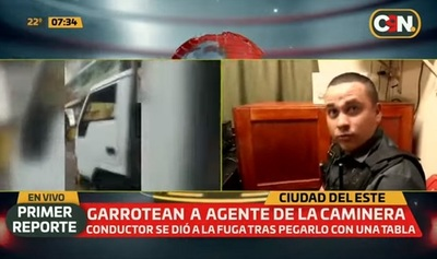 Agente de tránsito es agredido por conducto en CDE
