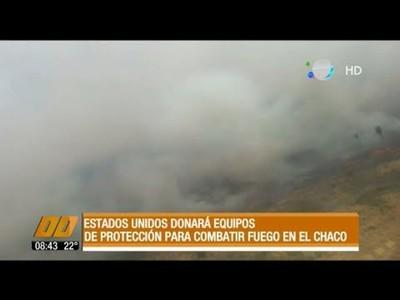 EE.UU. donará equipos de protección para combatir el fuego en el Chaco