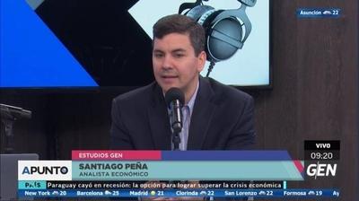 """HOY / Economía en recesión: """"Una segunda mala cosecha va a ser devastador"""", advierte Peña"""