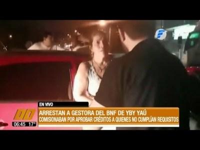"""Arrestan a """"gestora"""" del BNF de Yby Yaú"""