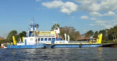 Suspenden servicio de balsa en Pilar por bajo caudal de agua